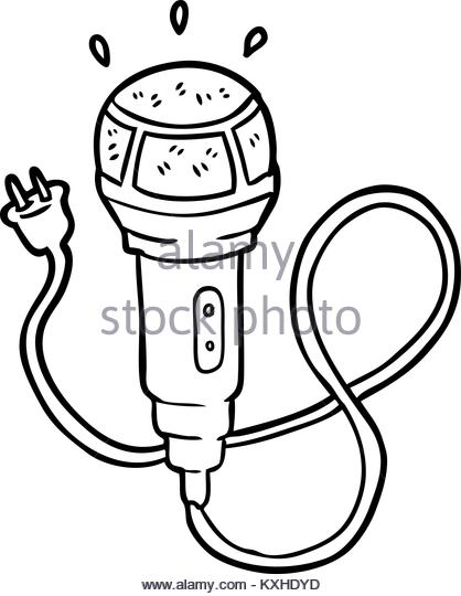 418x540 Freehand Drawn Cartoon Microphone Stock Photos Amp Freehand Drawn