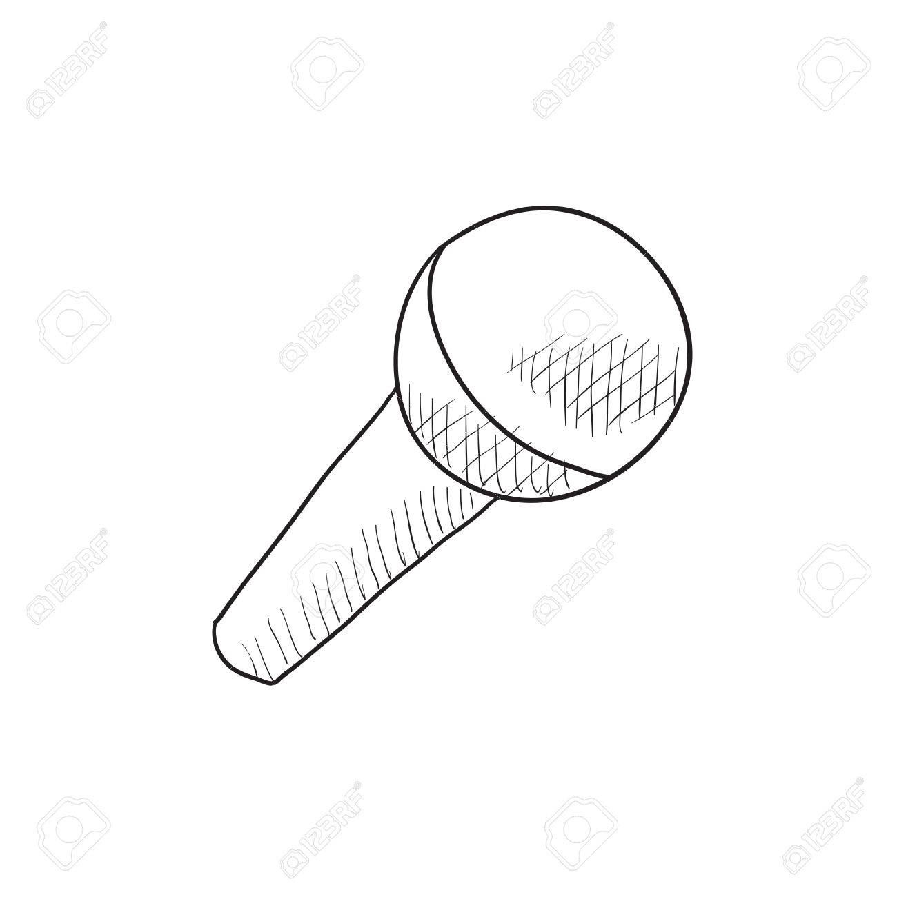 1300x1300 Microphone Vector Sketch Icon Isolated On Background. Hand Drawn