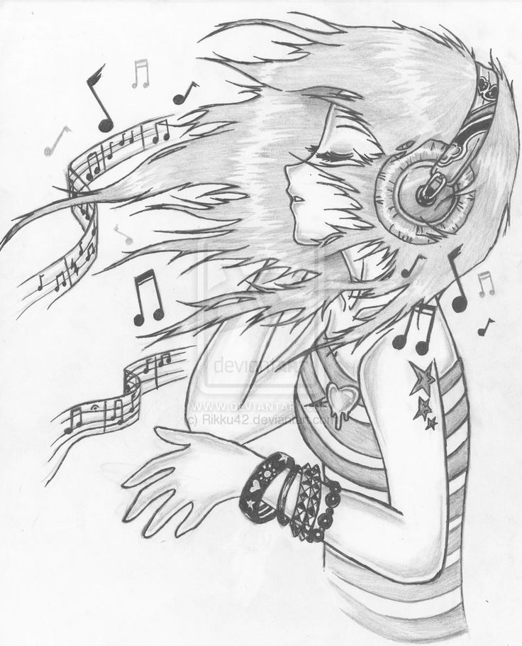 736x910 Cool Music Drawings Collection