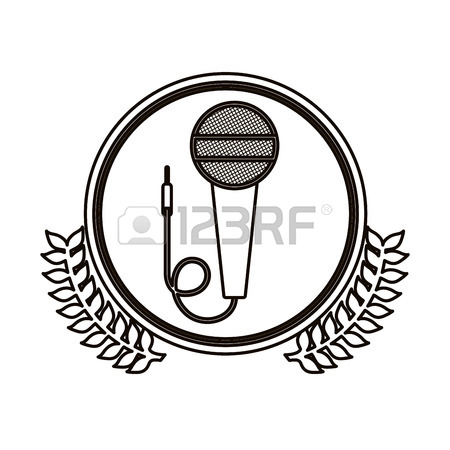 450x450 965 Microphone Contour Icon Cliparts, Stock Vector And Royalty