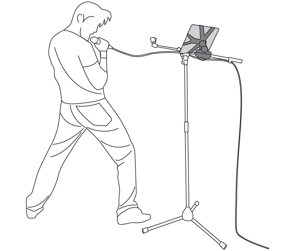 1000x852 Ik Multimedia Iklip Ipad Microphone Stand Adapter