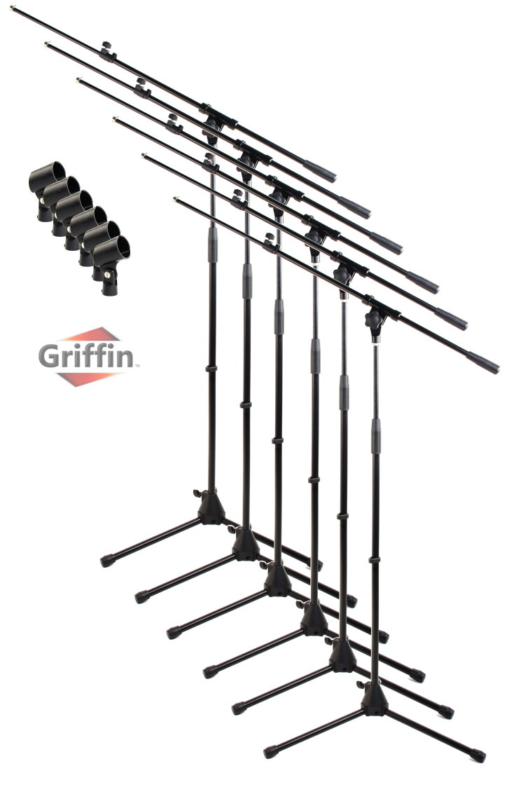 727x1123 Microphone Boom Package 6 Of By Griffin Microphone Stands Pack