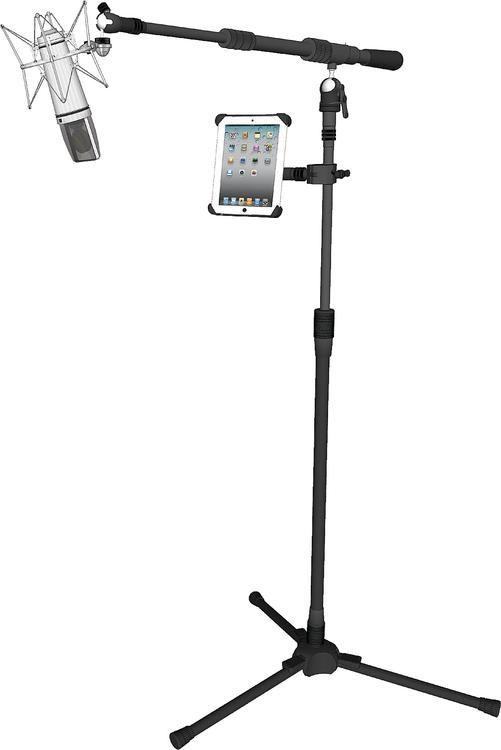 501x750 Triad Orbit Modern Vocalist System Microphone Stand Package