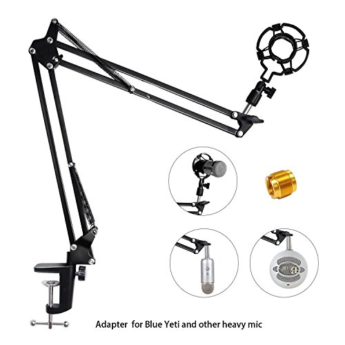 500x500 Upgraded Adjustable Microphone Suspension Boom Scissor Arm Stand
