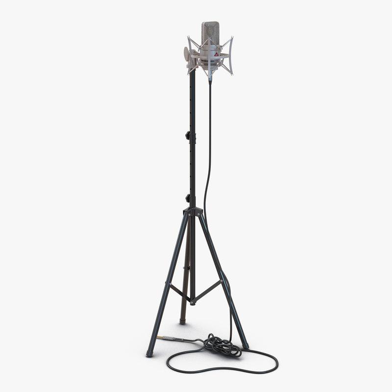 800x800 C4d Condenser Microphone Stand Rode