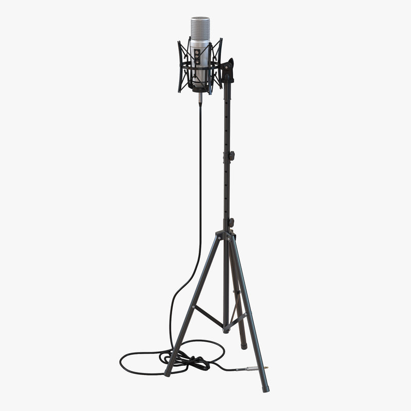 800x800 Microphone Rode Stand 3d Model