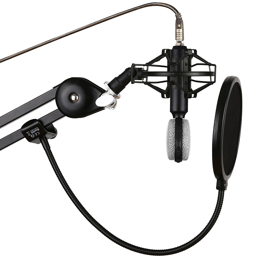 1000x1000 Bc Master Universal Microphone Shock Mount Stand With Metal