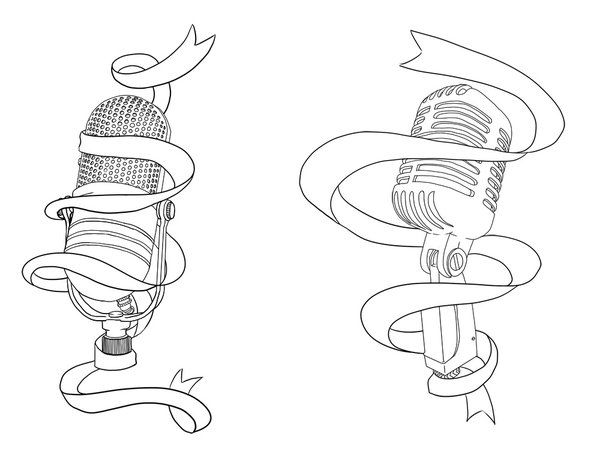 600x461 Banner And Microphone Tattoo Design Tattoo Shit