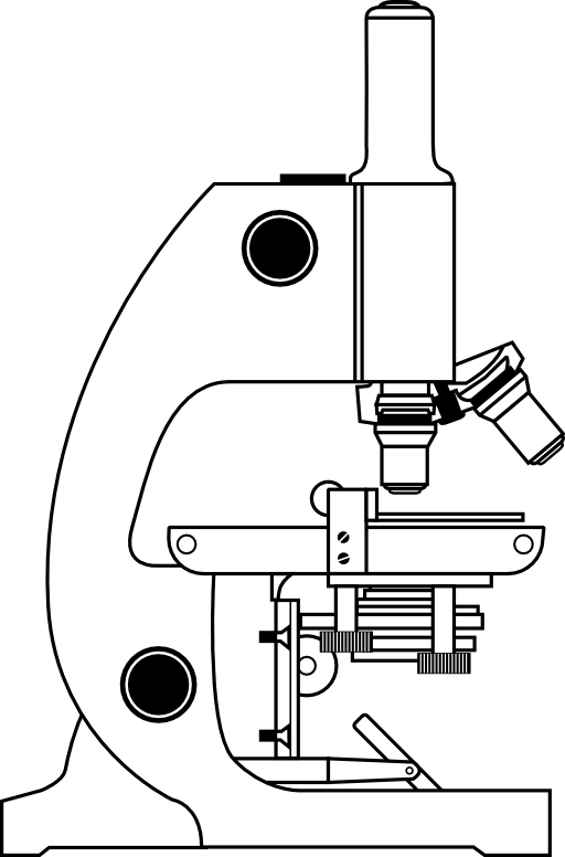 512x776 Microscope With Labels Clipart I2clipart