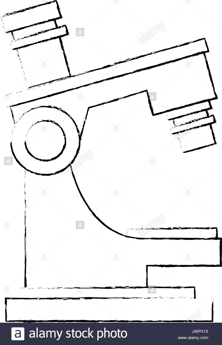 894x1390 Laboratory Microscope Sketch Stock Photos Amp Laboratory Microscope