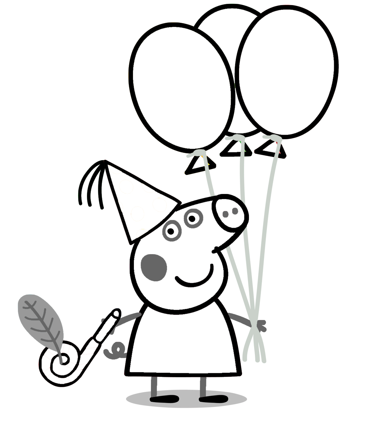 1238x1413 Peppa Pig Drawing Templates Peppa Pig Coloring Page Free