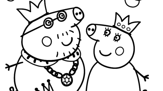 570x320 Peppa Pig Drawing Templates Peppa Pig Coloring Page Free