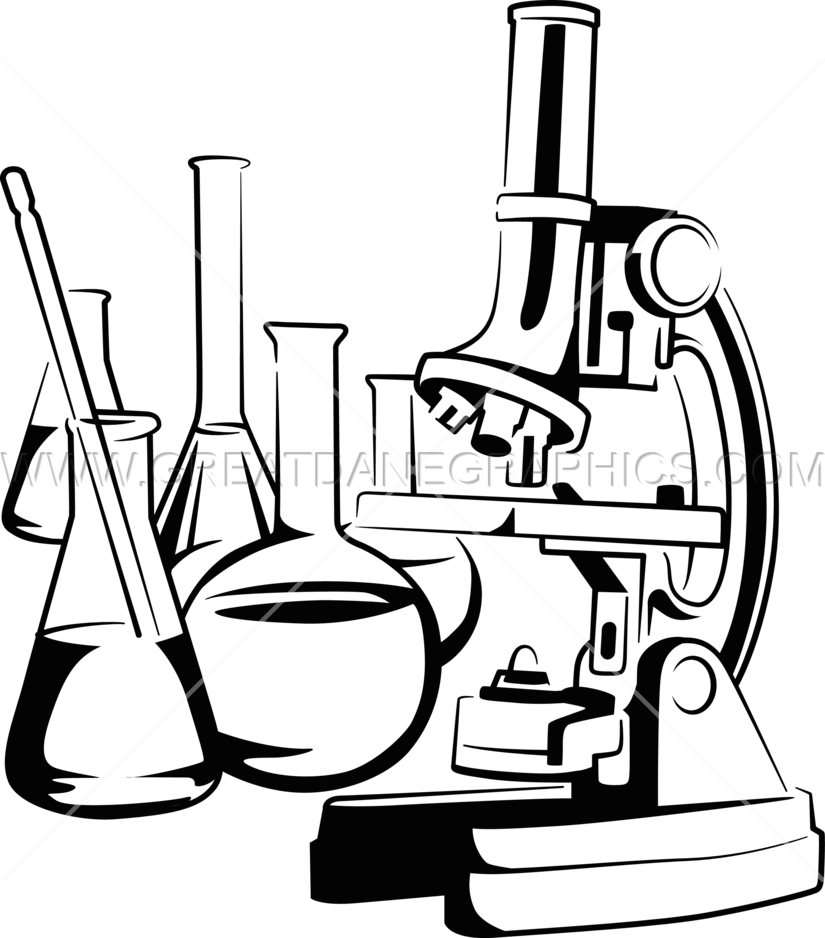 825x938 Microscope Production Ready Artwork For T Shirt Printing