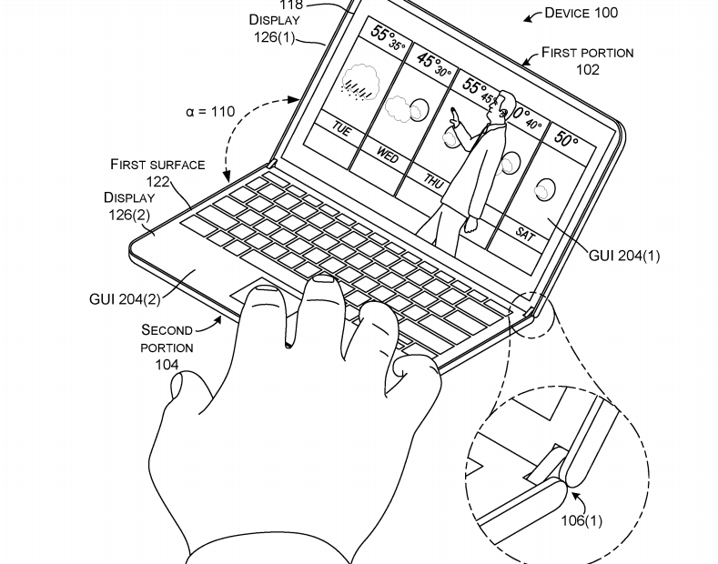 789x620 Folding Microsoft Surface Outed In New Patent Drawings