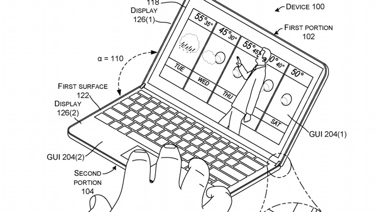 1280x720 Folding Microsoft Surface Outed In New Patent Drawings