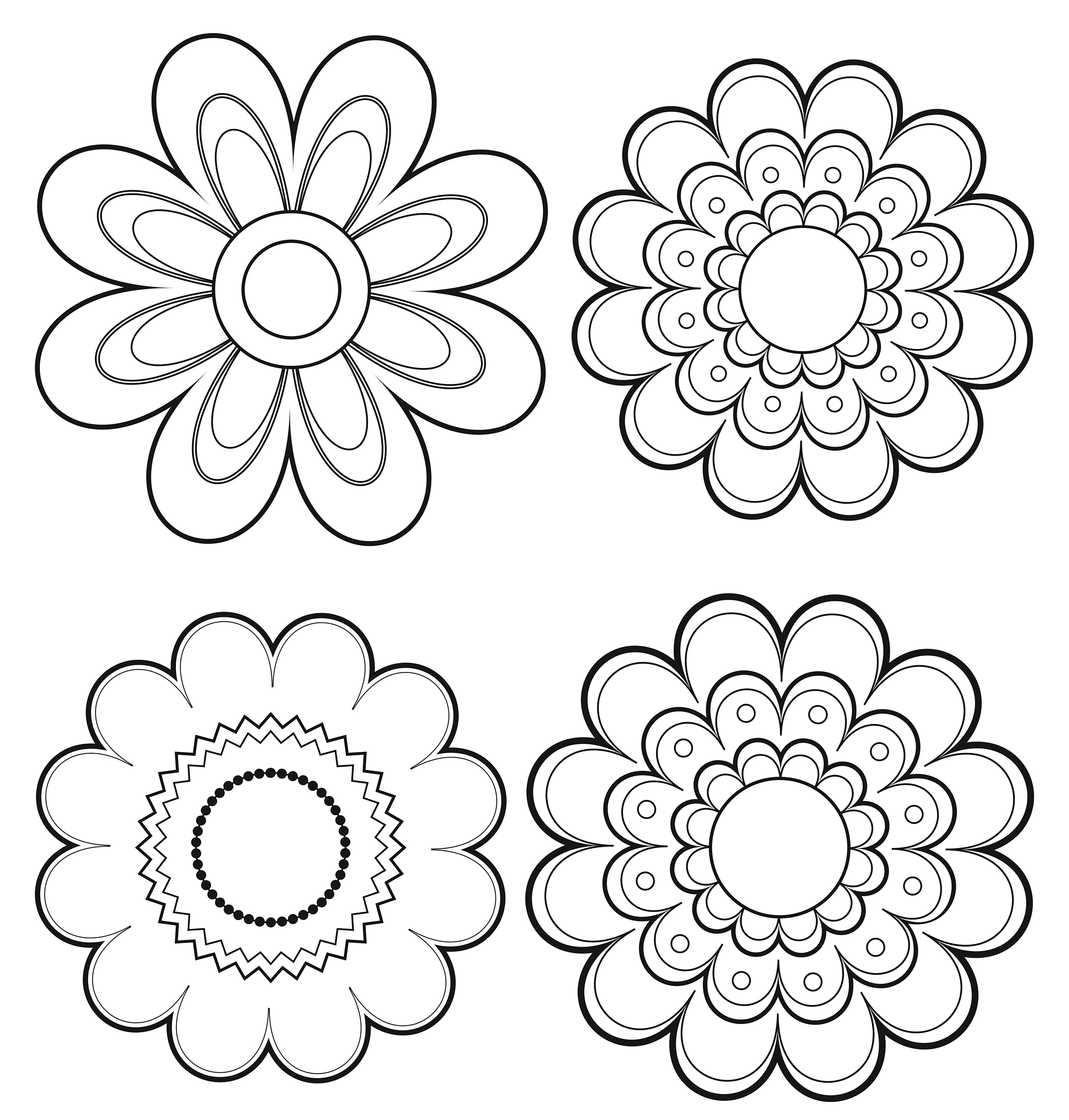 2550x2672 Mexican Flowers Drawing Art Latinaish Just Open In Microsoft Paint