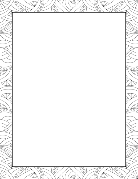 470x608 Printable Abstract Pattern Border. Use The Border In Microsoft