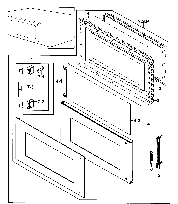 2535x2900 Samsung Microwave Parts Model Smh7187stgxaa0000 Sears Partsdirect