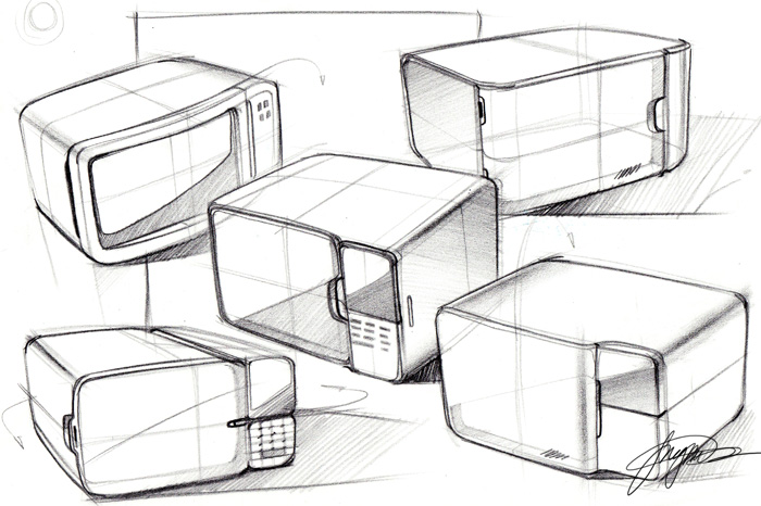 700x466 Sketch A Day 156 Microwaves Sketch A Day Sketches By Spencer