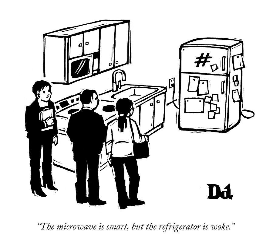 900x828 The Microwave Is Smart Drawing By Drew Dernavich