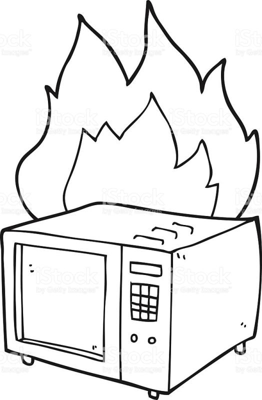 524x800 Microwave Clipart Black And White