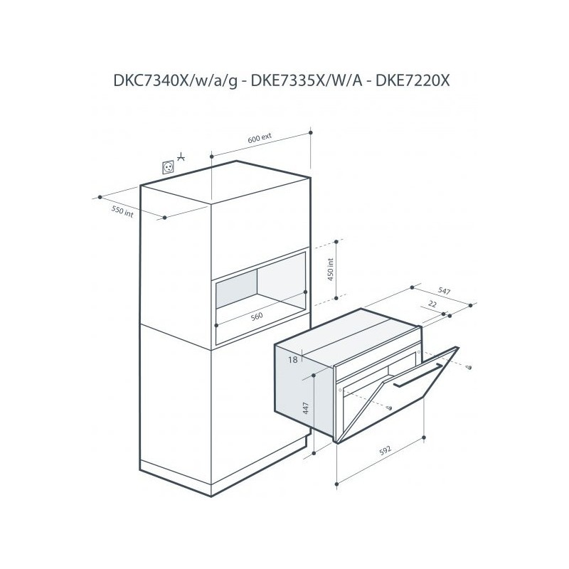 800x800 De Dietrich Built In Microwave Oven Dkc73