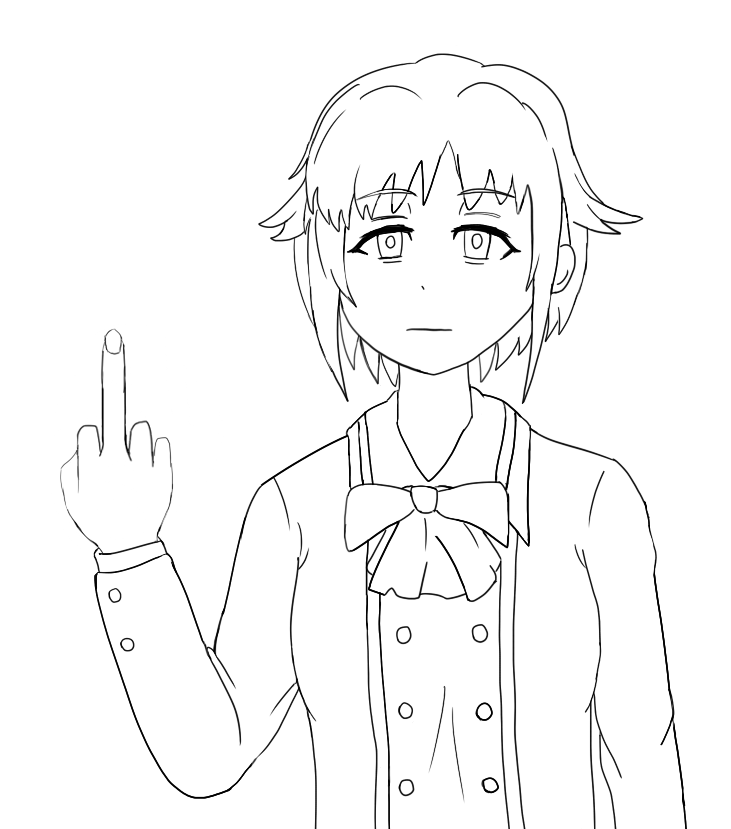 731x829 Sachiko With Middle Finger By Taegurk123