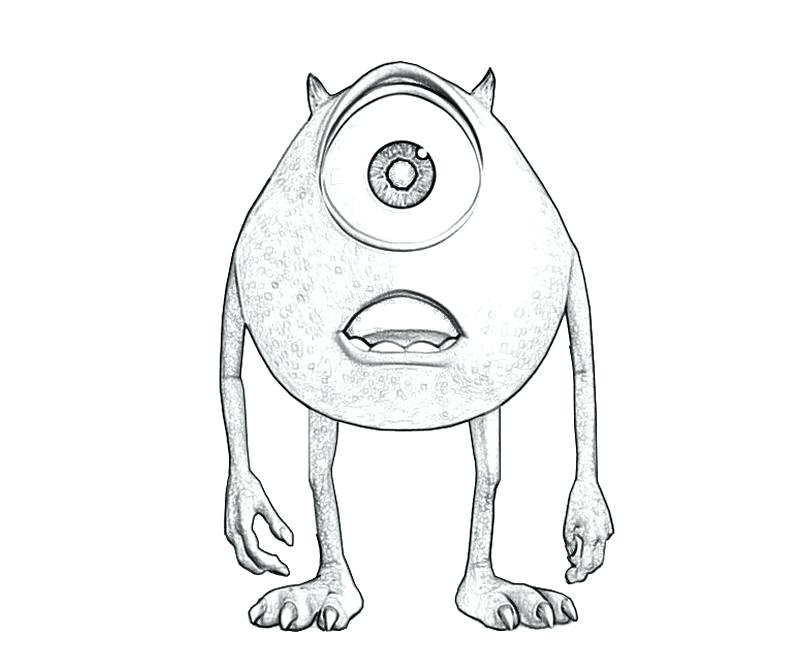 800x667 Mike Wazowski Coloring Pages Monsters University Coloring Pages