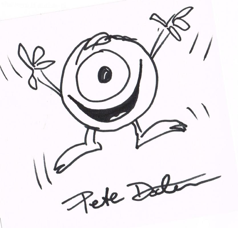 834x800 Pete Doctor Monsters Inc. Mike Wazowski, In John Rugr'S's Pete
