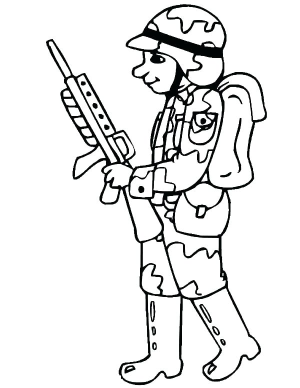 600x776 Classy Soldier Coloring Pages Free Download