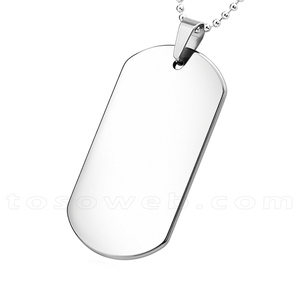 1000x1000 Men's Dog Tag Pendant Tungsten Carbide Perfect Gift