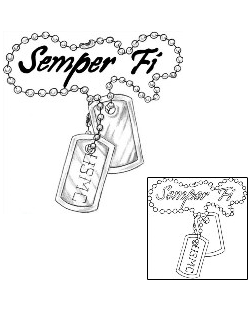 250x310 Female Dog Tag Tattoo Show Details For Dog Tags Tattoo Semper Fi
