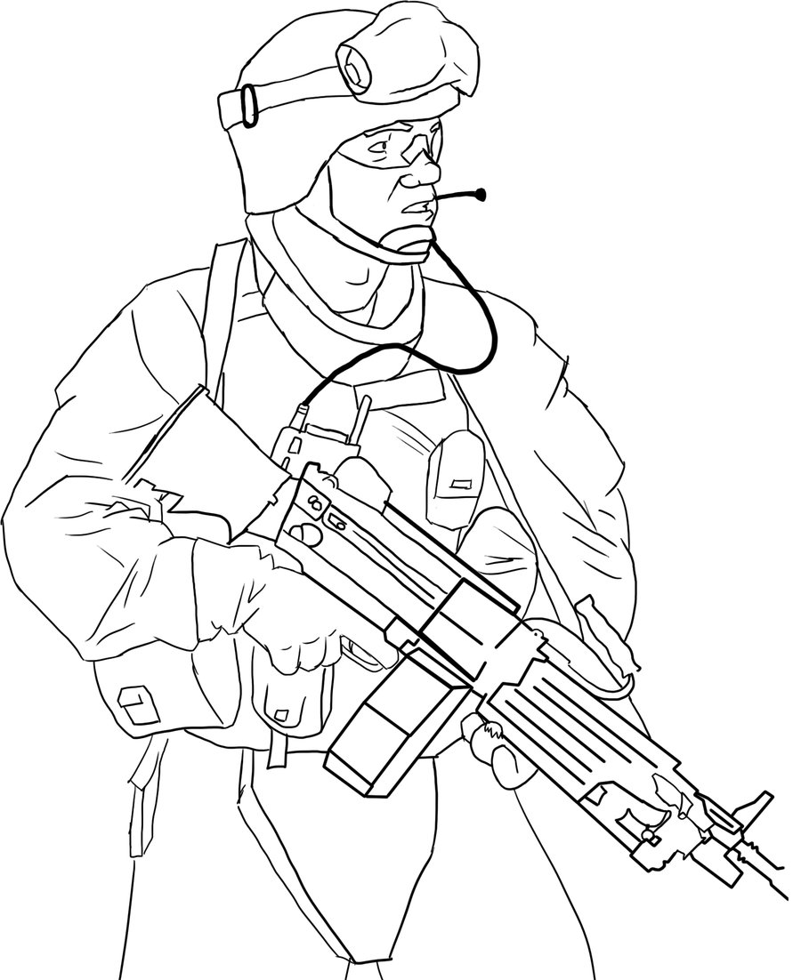 900x1102 Drawn Soldiers Us Army