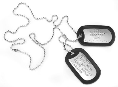 396x292 Military Dog Tags Embossed Personalised Free In Wexford Town