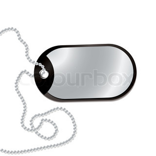 320x320 Military Identity Tag (Dog Tag, Identity Plate) With Metal Chain
