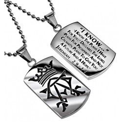250x250 Necklaces Dog Tag Alpha Omega Necklace Steel Christian Jewelry