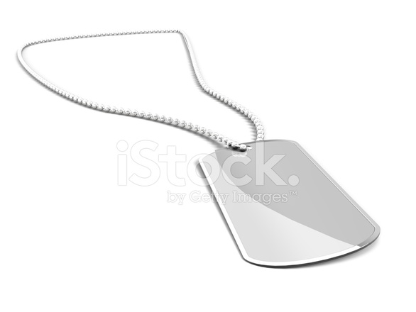 586x440 Us Army Dog Tag On White Background Stock Photos