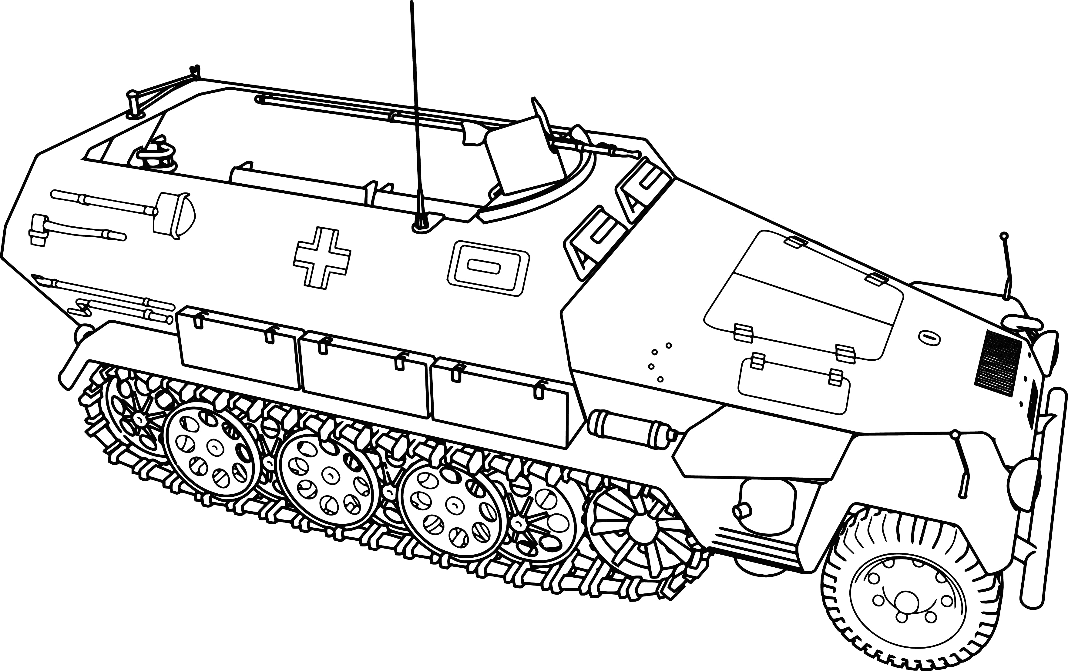 Military Tank Drawing at GetDrawings
