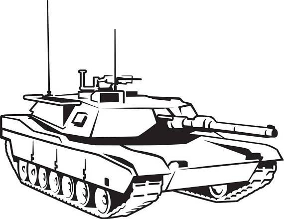 570x439 Military Tank Svg