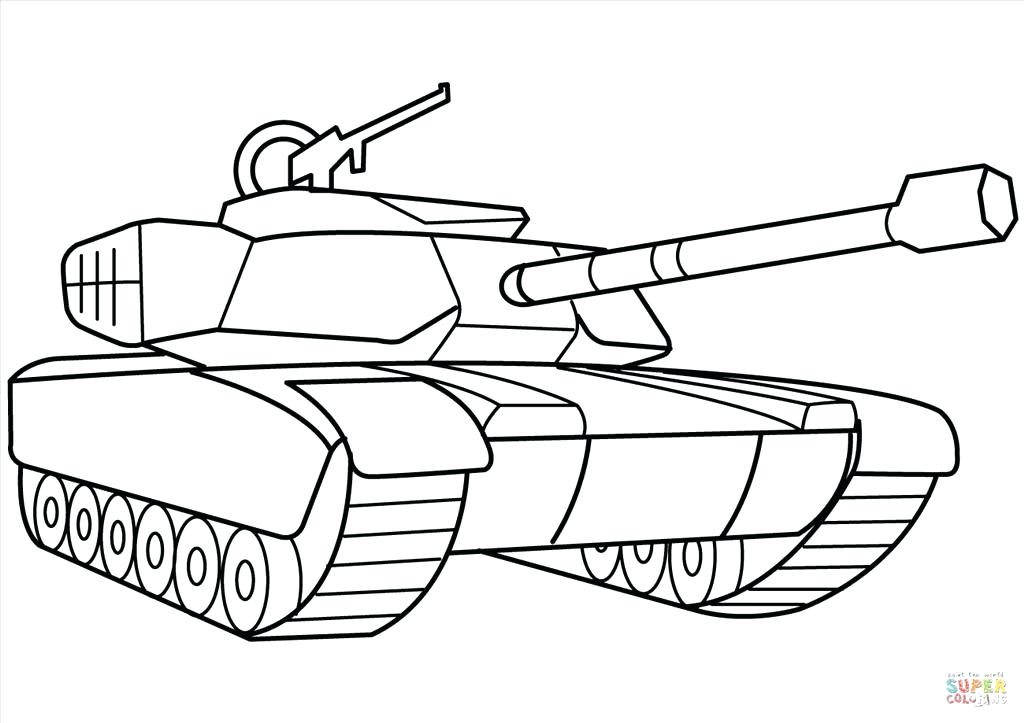 tank coloring pages - military tank drawing at free for