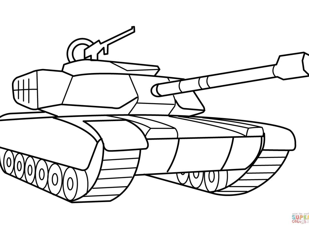 1080x800 Mixed Coloring Pages Army Vehicles For Adults Printable Sheet