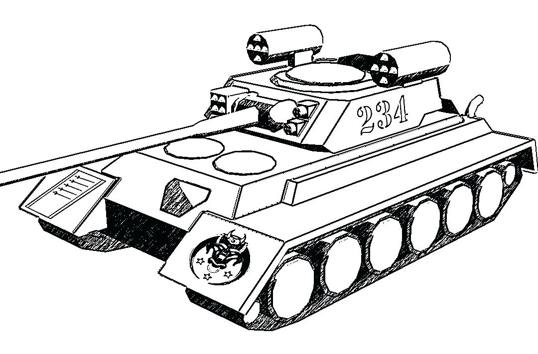 Coloring Pages Airplanes Military : Military tank drawing at getdrawings free for personal use