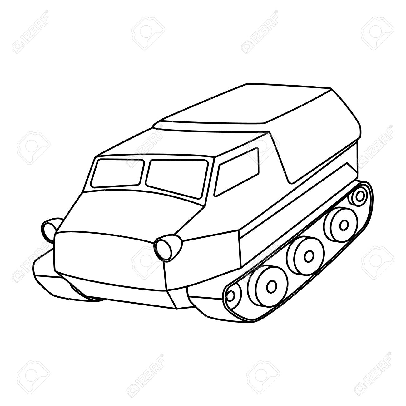 1300x1300 Tank For The Marshes. Caterpillar Transport Of Military.transport