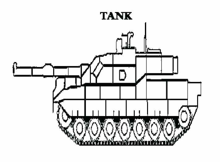 712x525 Army Tank Coloring Pages