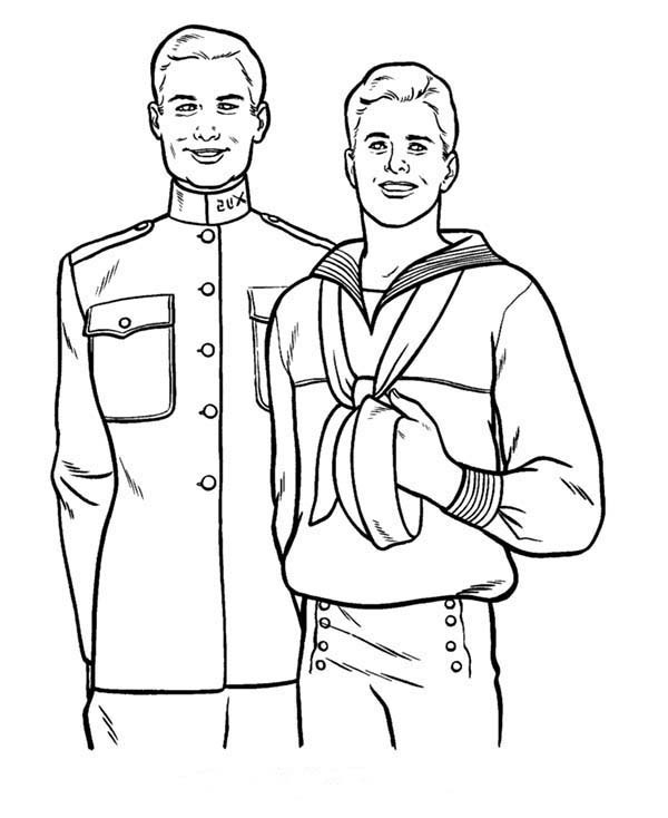 600x734 Old Friend On Military In Armed Forces Day Coloring Page Batch