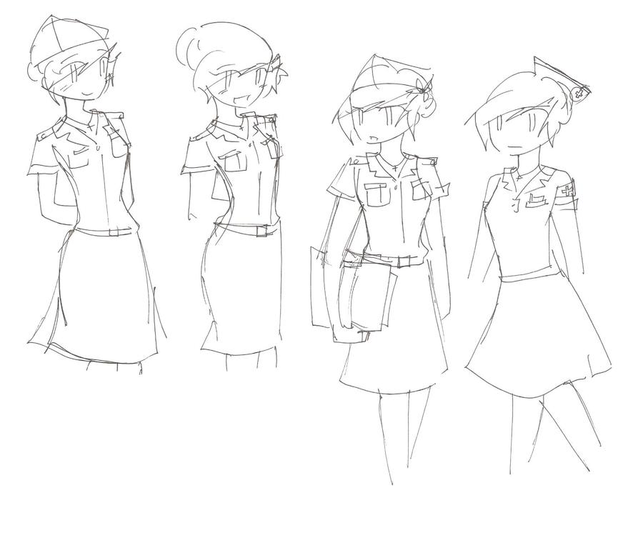 900x753 Piri's Military And Nurse Uniforms During Wwii By Mizuryuukh105