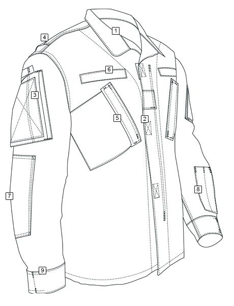 460x600 Army Combat Uniform (Glpd 14 04) Shirt Tru Spec Tactically