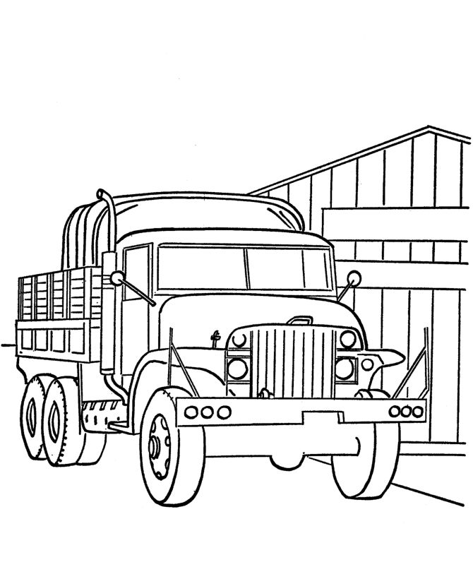 Military Vehicles Drawing