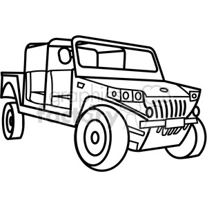 300x300 Royalty Free Military Armored Tactical Vehicle Outline 397989