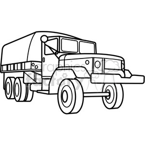 300x300 Royalty Free Military Armored Transport Vehicle Outline 397978